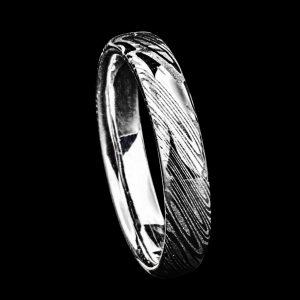Alliance en damas et argent | Bijoux damas - Pouillon (40)