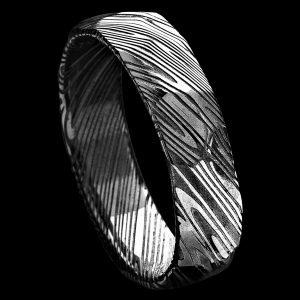 Alliance en damas facettée 6 MM | Bijoux damas - Pouillon (40)
